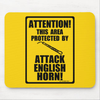 Attack English Horn Mouse Pad