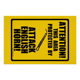 Attack English Horn Posters