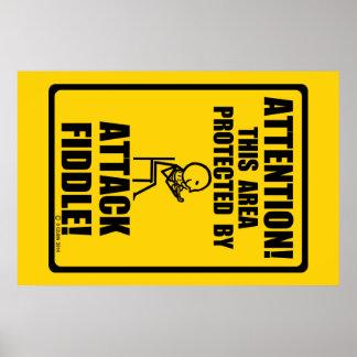 Attack Fiddle Print