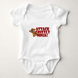 Attack Grizzly Ninja Baby Bodysuit