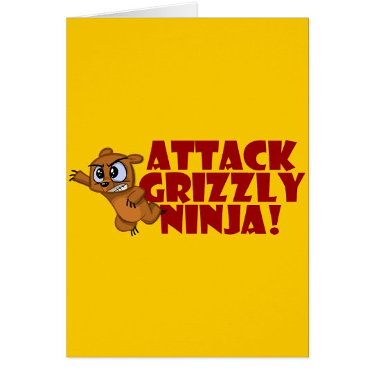 Attack Grizzly Ninja Card