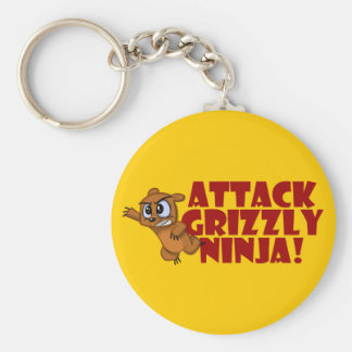 Attack Grizzly Ninja Keychain