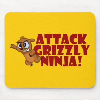 Attack Grizzly Ninja Mousepads