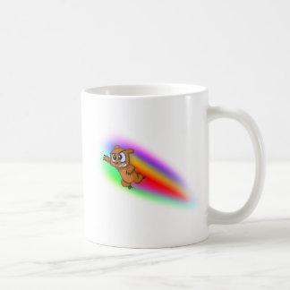 Attack Grizzly Ninja - Rainbow Blur! Coffee Mug