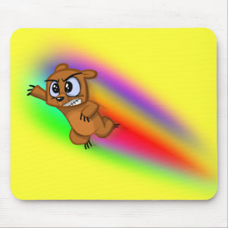 Attack Grizzly Ninja - Rainbow Blur! Mouse Pad
