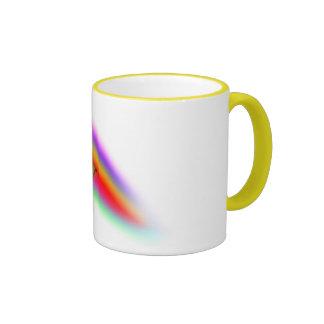 Attack Grizzly Ninja - Rainbow Blur! Ringer Coffee Mug