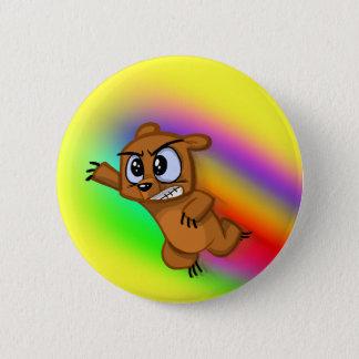 Attack Grizzly Ninja - Rainbow Blur! Pinback Button