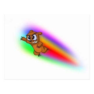 Attack Grizzly Ninja - Rainbow Blur! Postcard