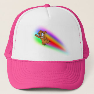 Attack Grizzly Ninja - Rainbow Blur! Trucker Hat