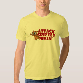 Attack Grizzly Ninja T-Shirt
