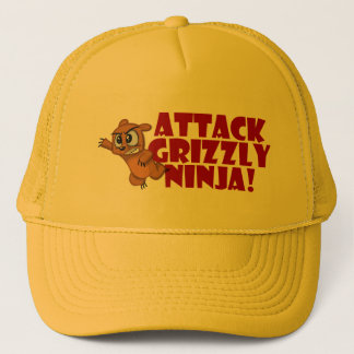 Attack Grizzly Ninja Trucker Hat