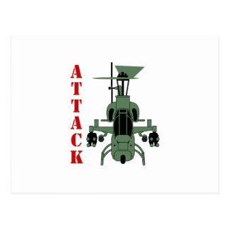 Attack Helicopter Postcard