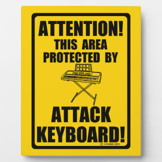Attack Keyboard Display Plaque