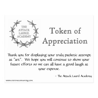Attack Laurel Token  Postcard