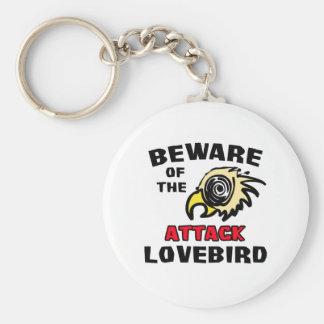Attack Lovebird Basic Round Button Keychain
