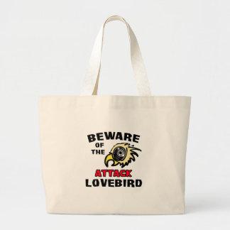 Attack Lovebird Jumbo Tote Bag