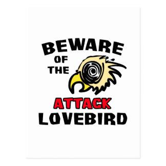 Attack Lovebird Postcard