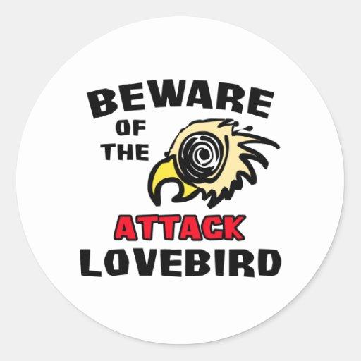 Attack Lovebird Round Stickers