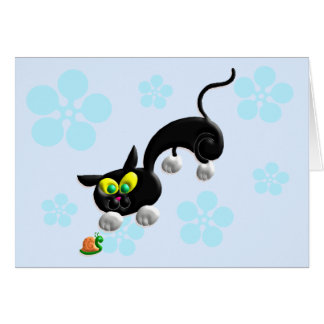 Attack Mode Cat Greeting Card