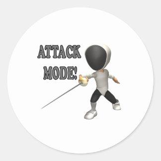 Attack Mode Classic Round Sticker
