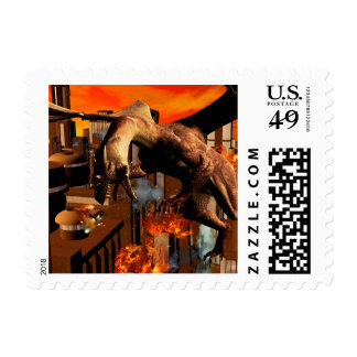 Attack of a dragon stamps