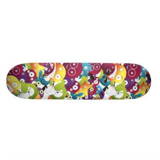 attack of monster balls sk8 skateboard deck