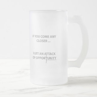 Attack of Opportunity Frosted Glass Beer Mug