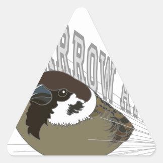 Attack of sparrow triangle sticker