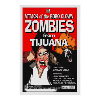 Attack of the Bobo Clown Zombies Poster