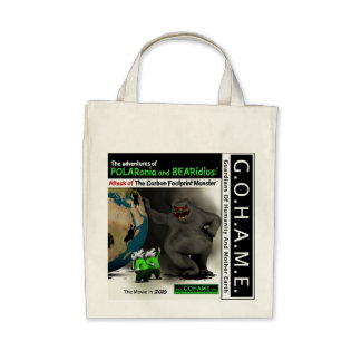Attack of The Carbon Footprint Monster Canvas Bag
