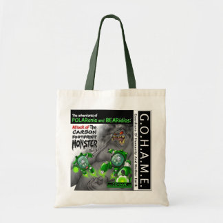 """Attack of The Carbon Footprint Monster - Part 3"""" Tote Bag"""