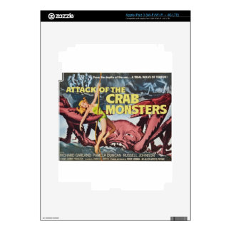 Attack of the Crab Monster iPad 3 Decals