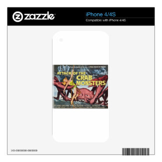 Attack of the Crab Monster iPhone 4 Skins