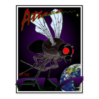 Attack of the Fly Postcard