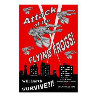 Attack Of The Flying Frogs Posters