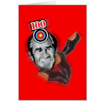 Attack of the flying shoe-Throw Shoe @ George Bush Greeting Card