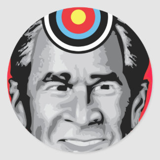 Attack of the flying shoe-Throw Shoe @ George Bush Classic Round Sticker