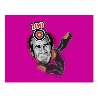 Attack of the flying shoe-Throw Shoe @ George Bush Postcard