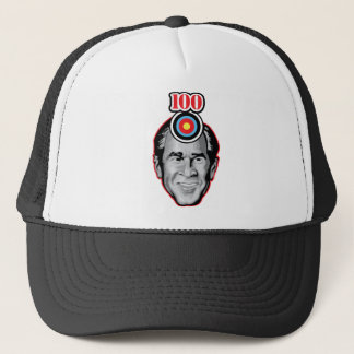 Attack of the flying shoe-Throw Shoe @ George Bush Trucker Hat