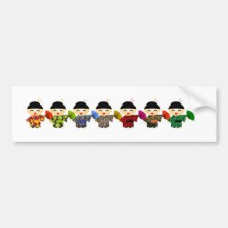 Attack of the Geisha Dolls Bumper Sticker