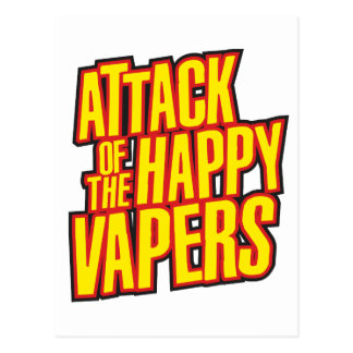 Attack of the Happy Vapers Postcard