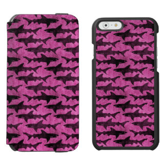 Attack of the Hot Pink Sharks Funny iPhone 6/6s Wallet Case