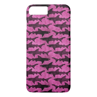 Attack of the Hot Pink Sharks Funny iPhone 7 Plus Case