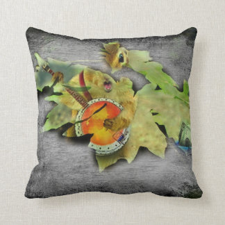 ATTACK OF THE LEAF THROW PILLOW