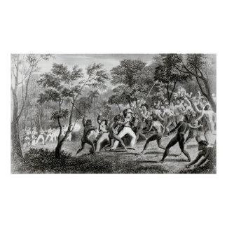 Attack of the Natives of Gambier Islands Poster