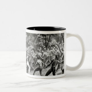 Attack of the Natives of Gambier Islands Two-Tone Coffee Mug
