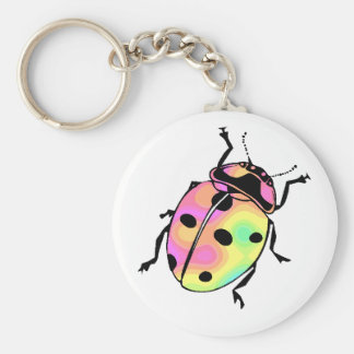 Attack of the Psychedelic Ladybug Keychain