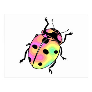 Attack of the Psychedelic Ladybug Postcard