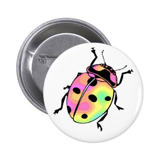 Attack of the Psychedelic Ladybug Round Button