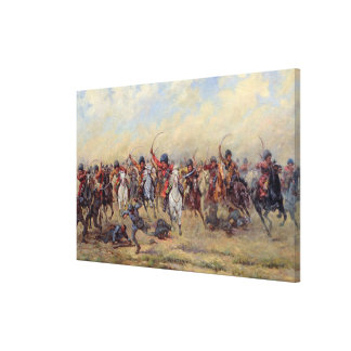Attack of the 'Savage Division' Stretched Canvas Print